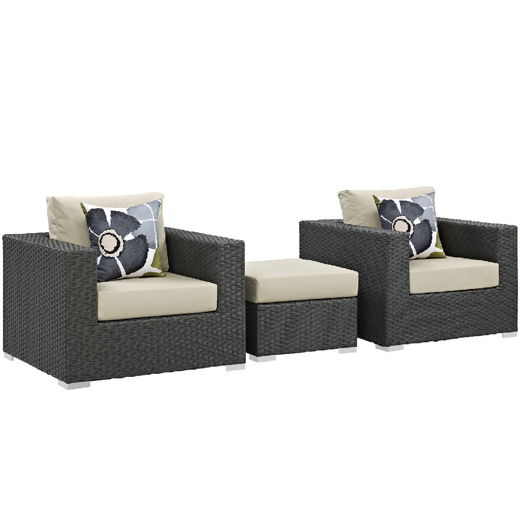 East End Sojourn Outdoor Patio Sunbrella Sectional Set Chc Bei Set