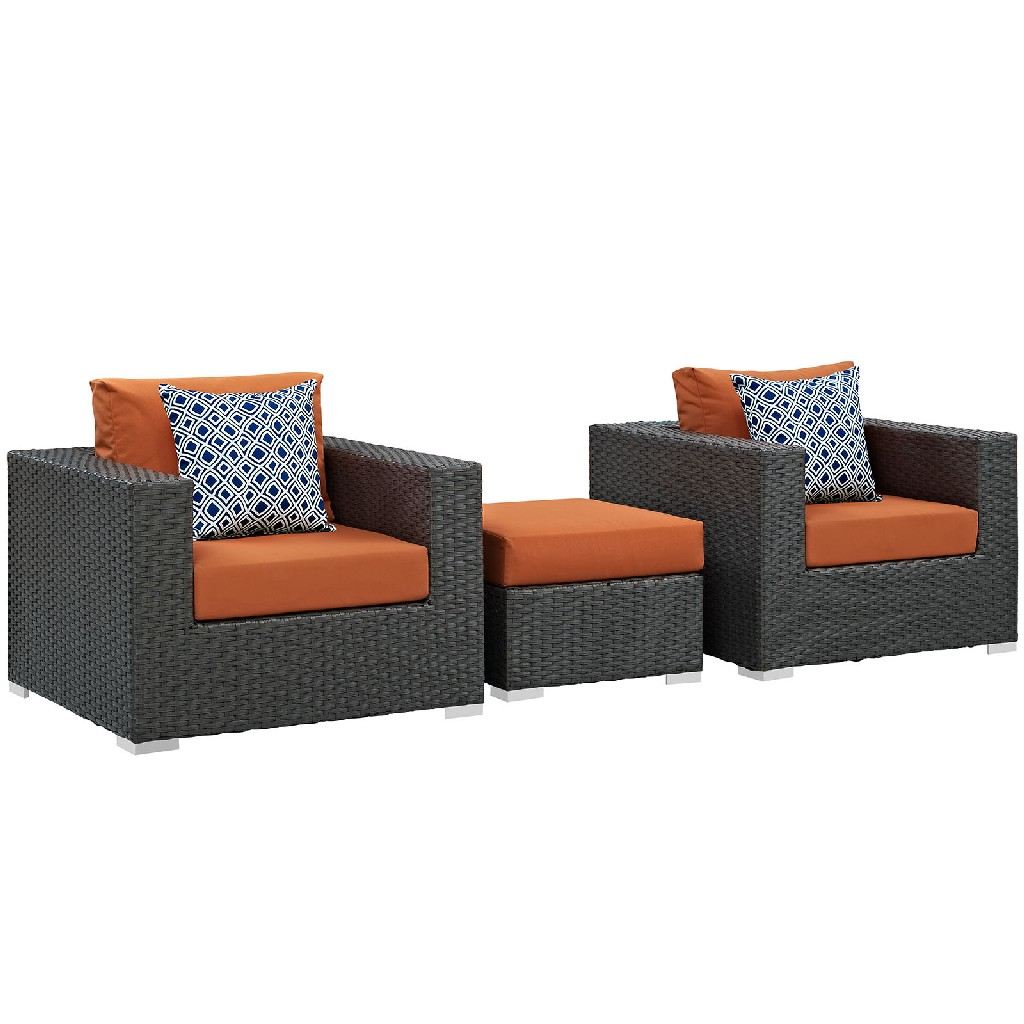 East End Sojourn Outdoor Patio Sunbrella Sectional Set Chc Tus Set