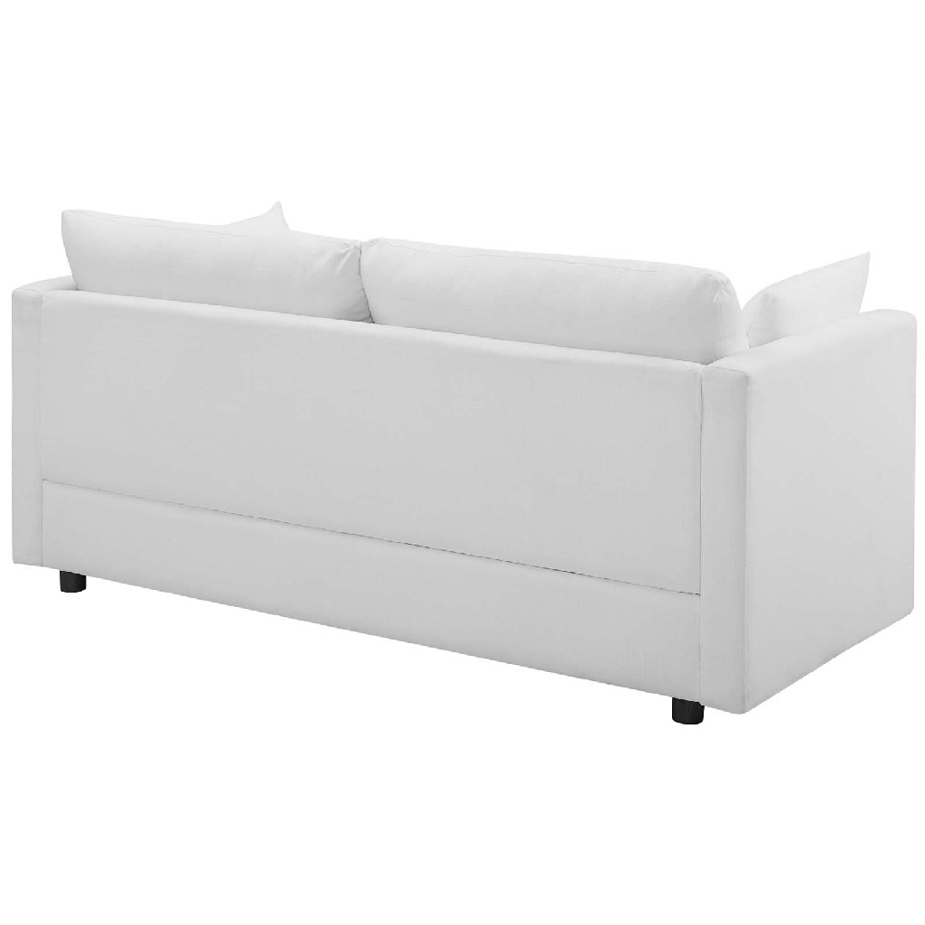 East Upholstered Fabric Sofa Whi Image