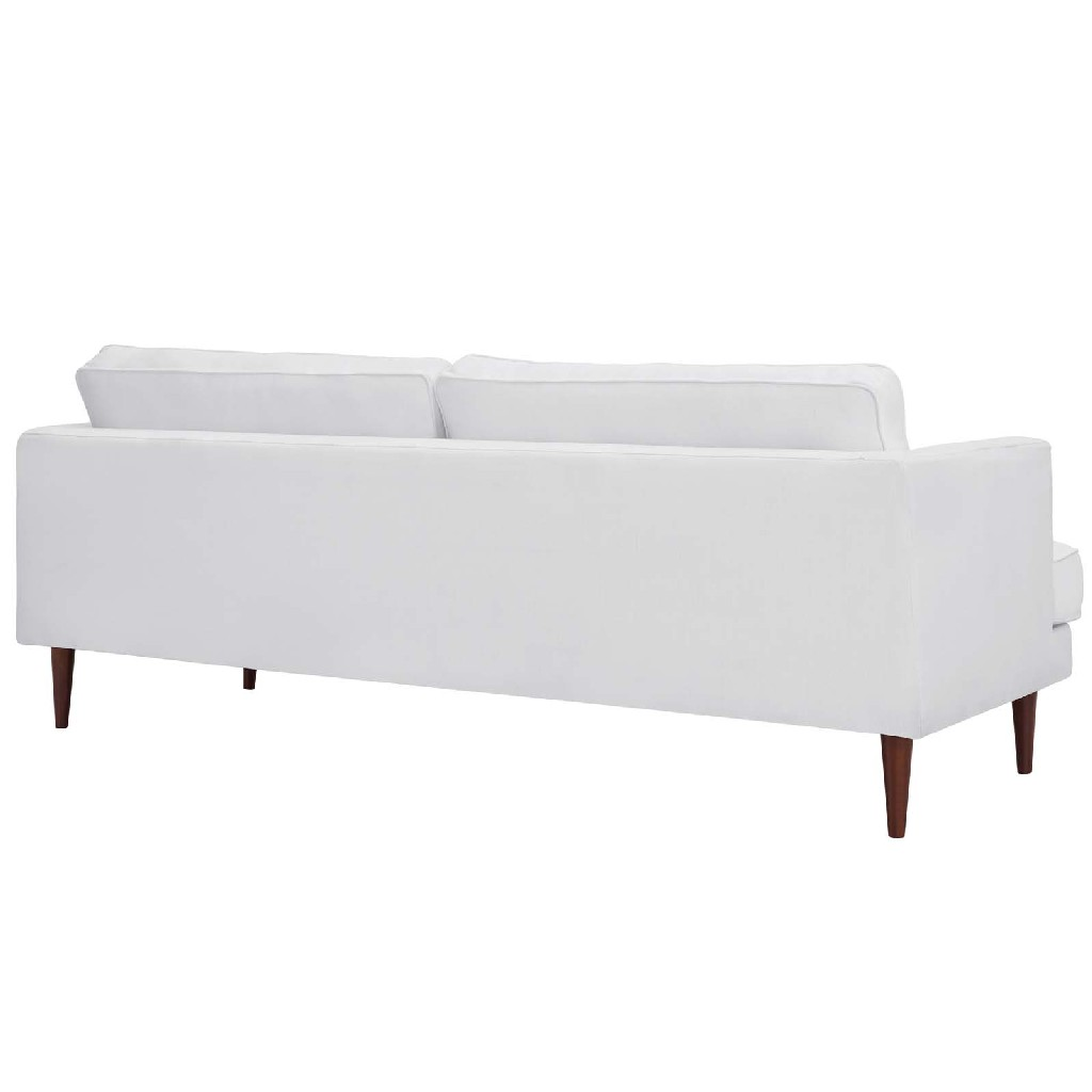 East End Upholstered Fabric Sofa Whi