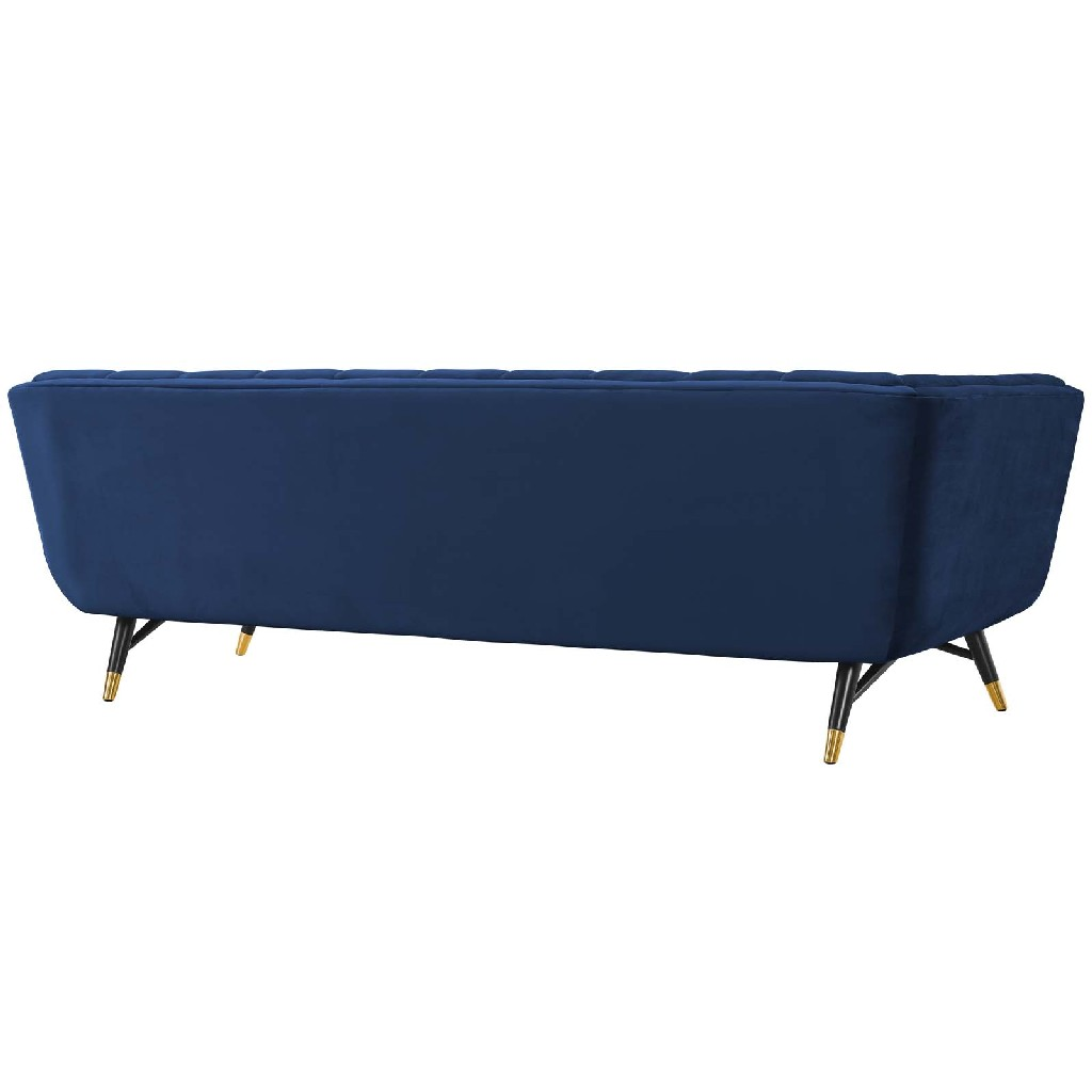 East End Upholstered Velvet Sofa Mid