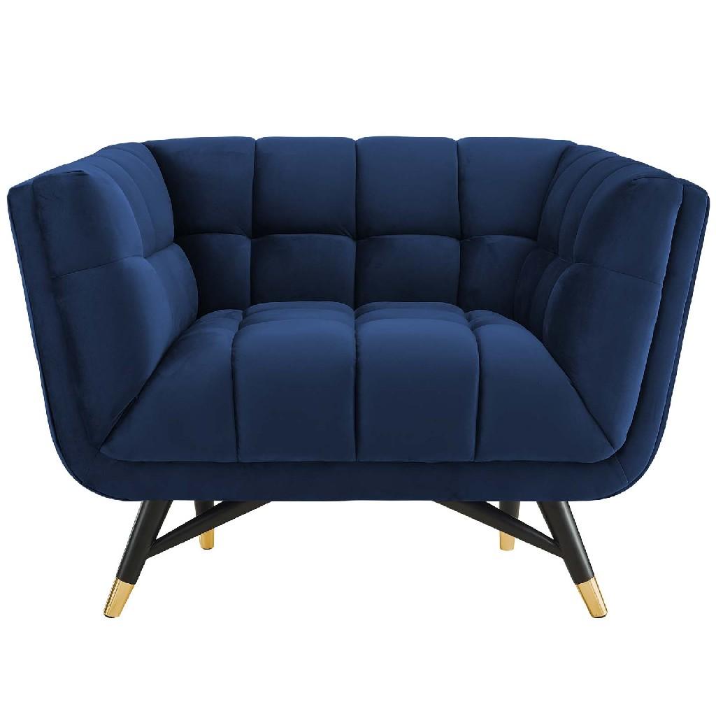 Adept Upholstered Velvet Armchair EEI-3060-MID