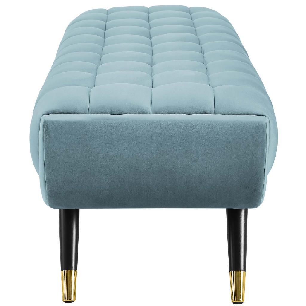 Adept Upholstered Velvet Bench EEI-3061-SEA