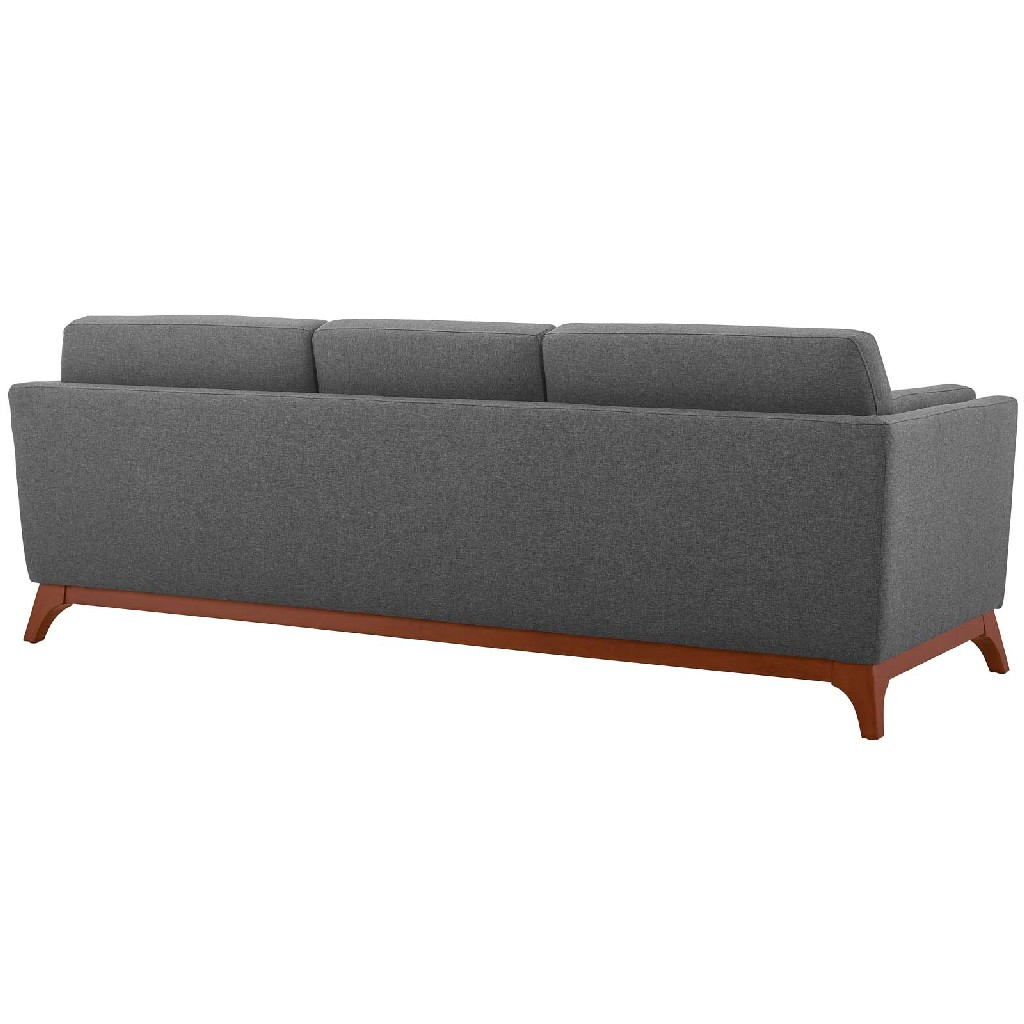 East End Chance Upholstered Fabric Sofa Gry