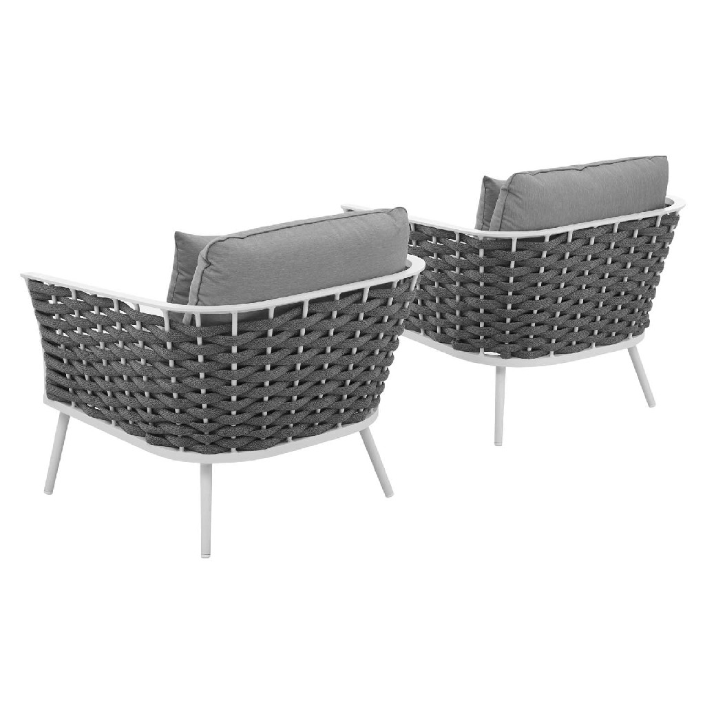 East End Imports Armchair Outdoor Patio Aluminum Set