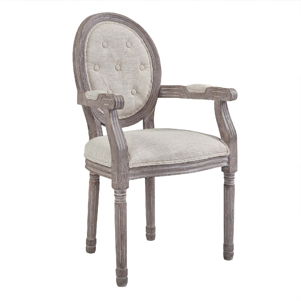 East End Arise Dining Armchair Upholstered Fabric Bei