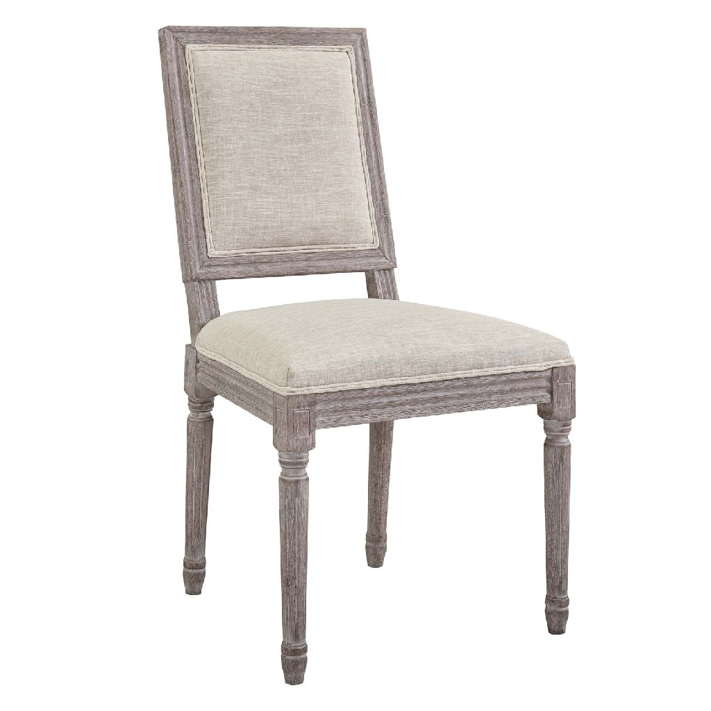 East End Court Dining Side Chair Upholstered Fabric Bei