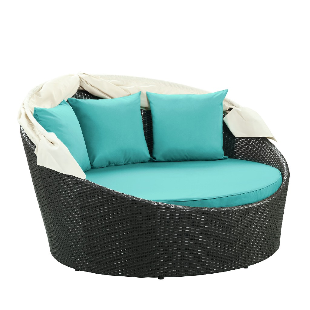 East End Imports Canopy Outdoor Patio Daybed Trq