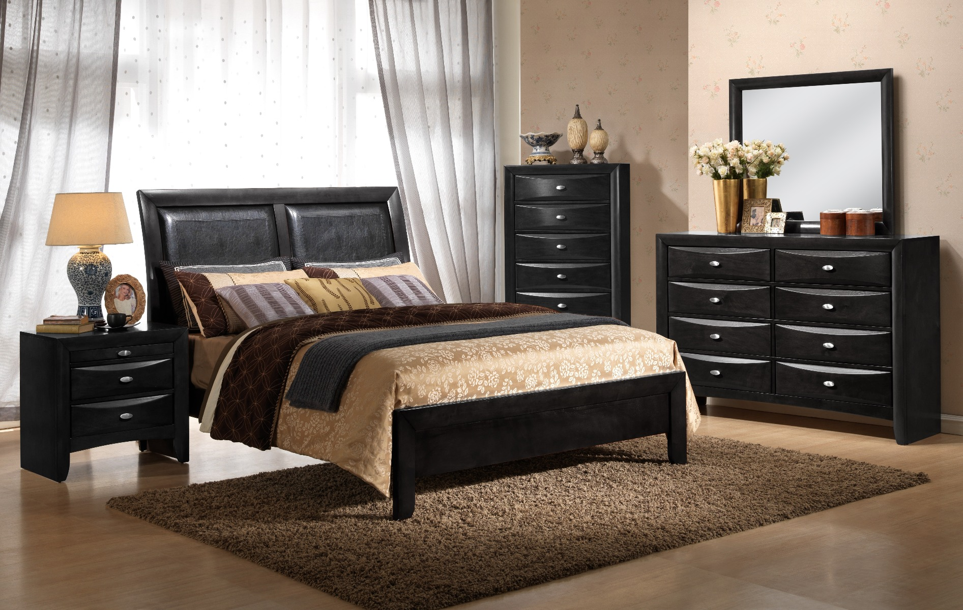 Myco Furniture Leather King Bed Photo