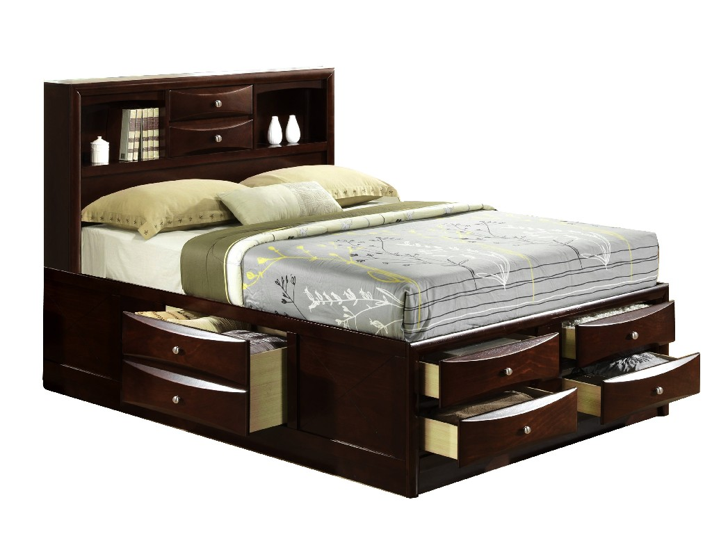 Picket House Queen Storage Bed