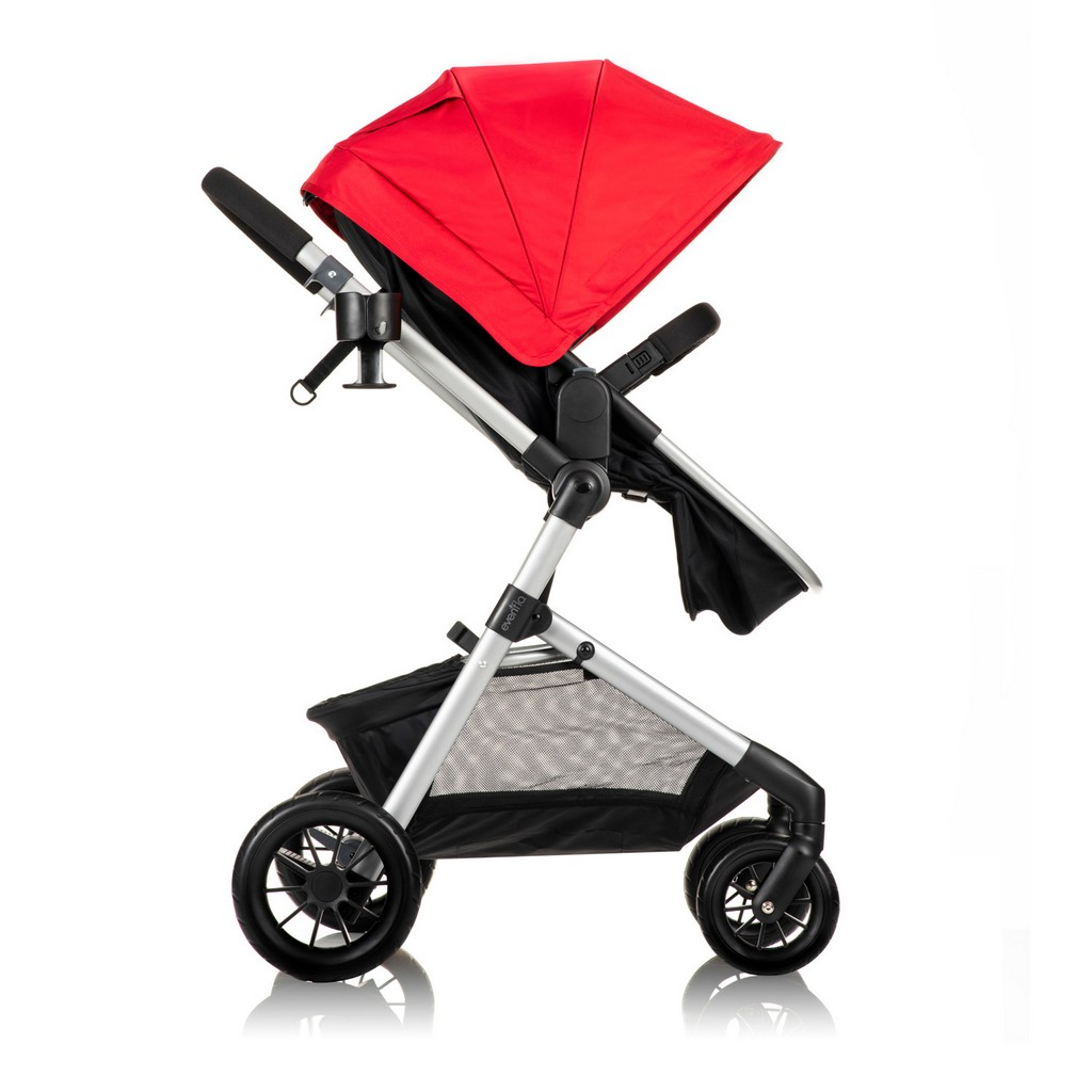Pivot Modular Travel System With Safemax Rear-Facing Infant Car Seat, Salsa Red - EV56012367