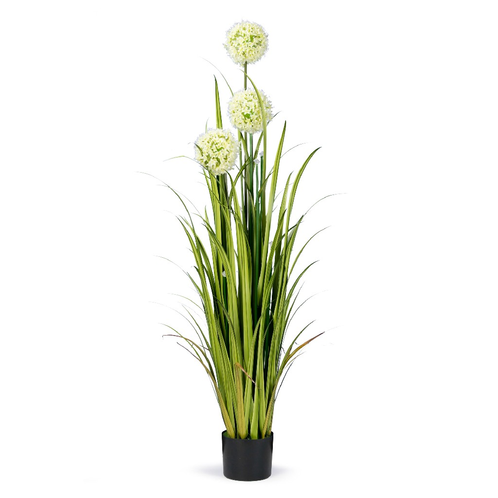 5' High Artificial Reed w/ Hydrangea Similar Flowers & Decorative Crystal - Glamour Home GHAP-1317