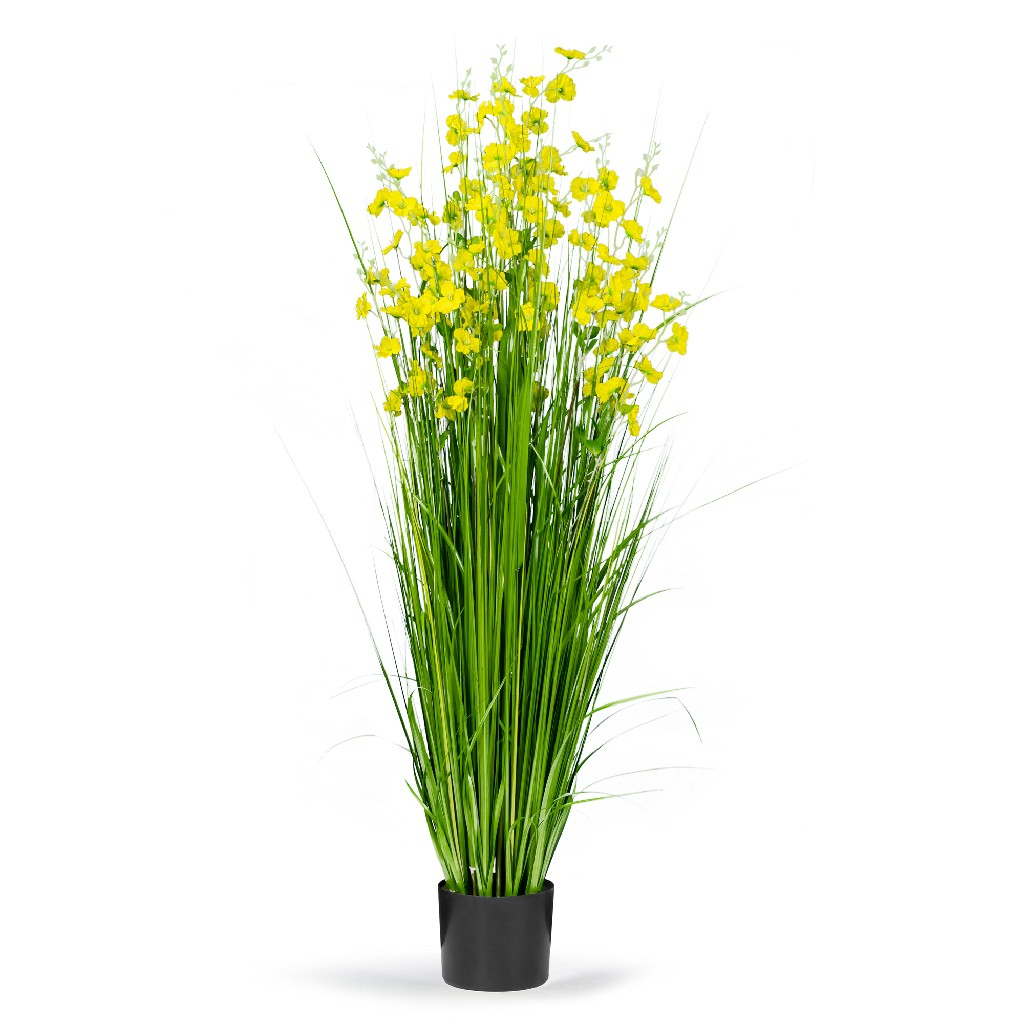 5' High Artificial w/ Decorative Yellow Flowers - Glamour Home GHAP-1325