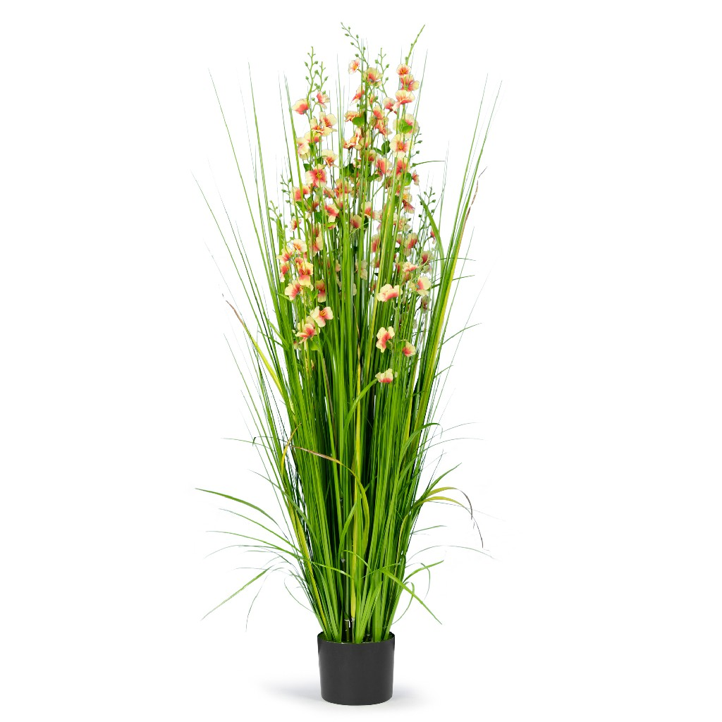 5' High Artificial Reed w/ Decorative Yellow & Pink Flowers - Glamour Home GHAP-1326