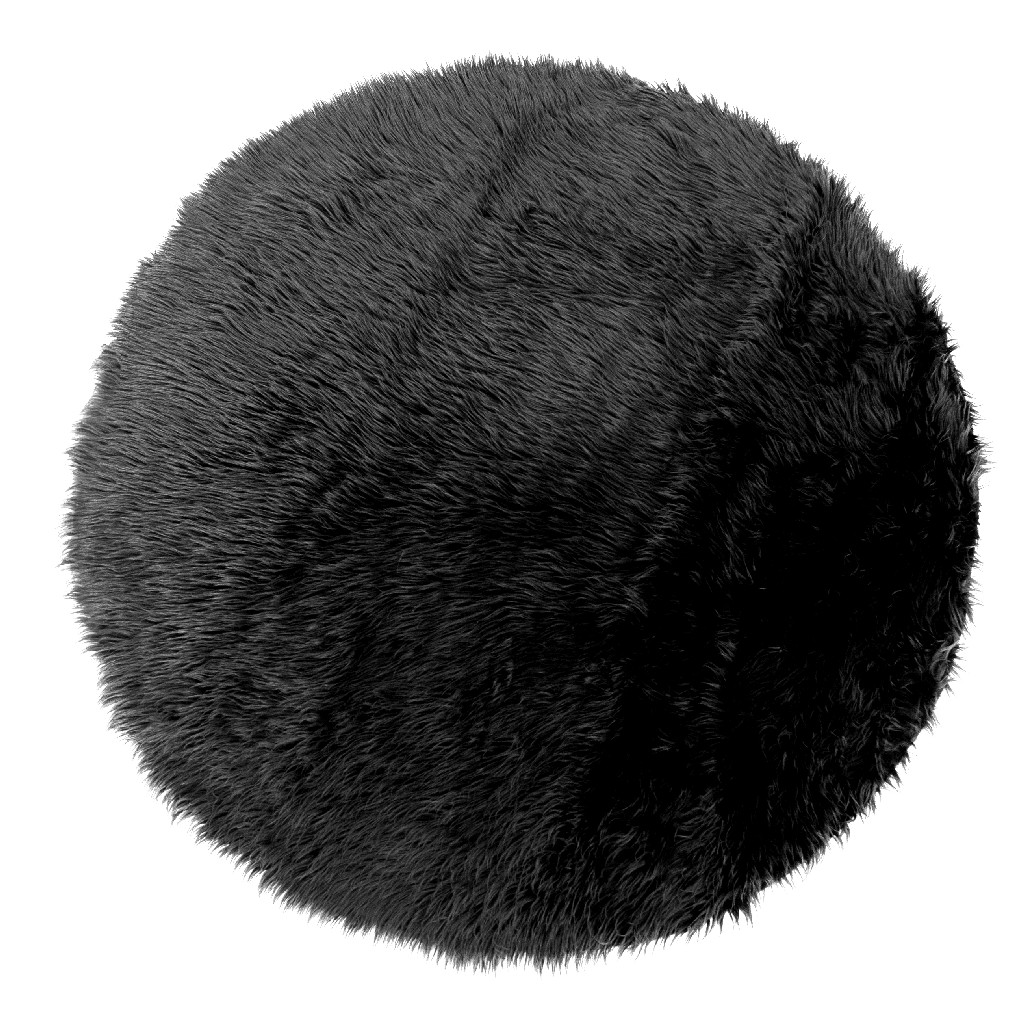 Alair Black Round Faux Fur Area Rug 5 Foot Wide - Glamour Home GHAR-1249