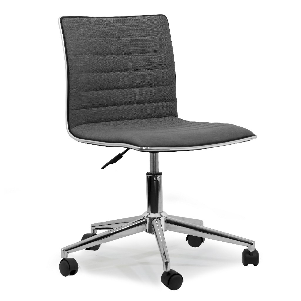 Aiko Grey Fabric Swivel Office Chair w/ Wheel Base - Glamour Home GHTSC-1156