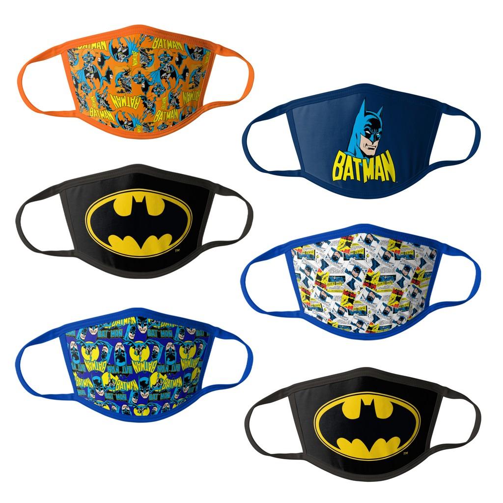 Batman Kids Face Masks - 6PK - HCBMP1863