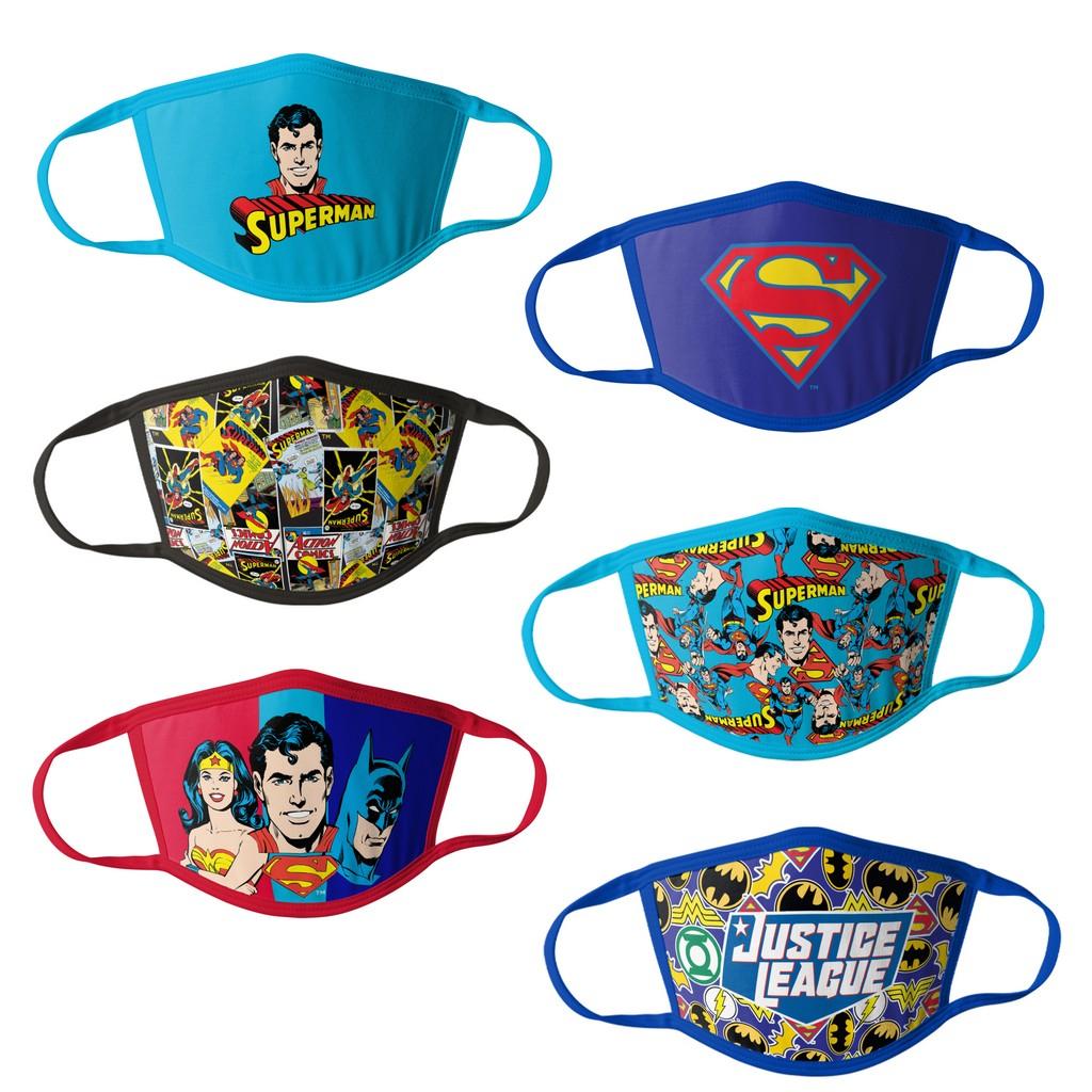 Justice League Kids Face Masks - 6PK - HCBMP1864