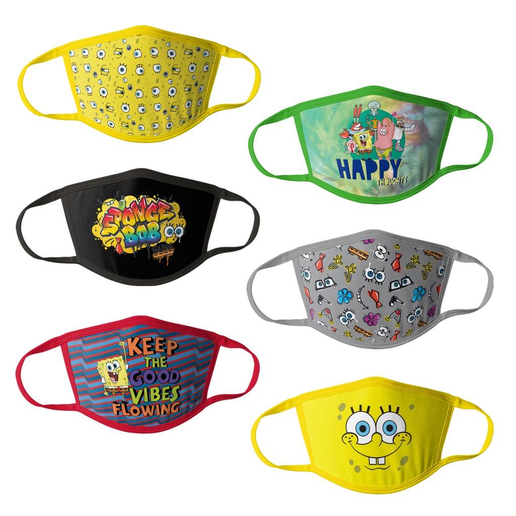 Sponge Bob Kids Face Masks - 6pk - HCBMP3318