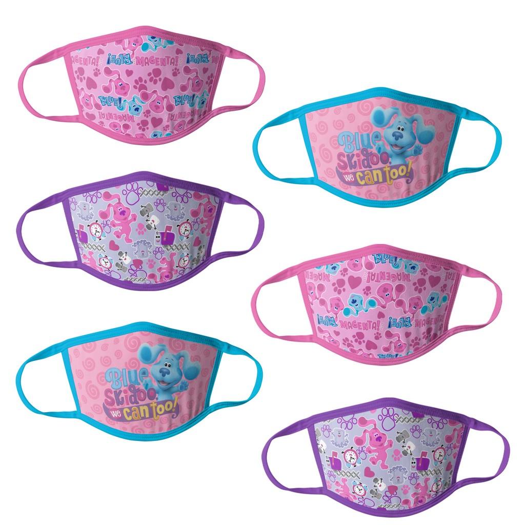 Blues Clues Girls Kids Face Masks - 6pk - HCGMP3106