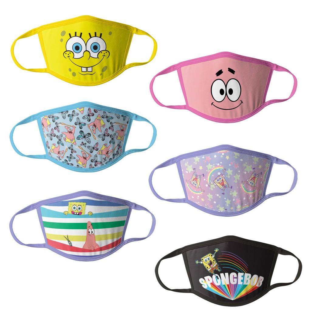 Sponge Bob Girls Kids Face Masks - 6pk - HCGMP3319
