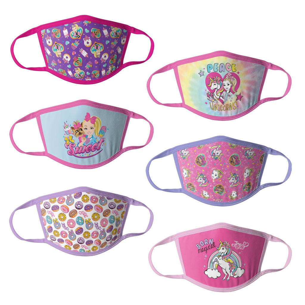 JoJo Siwa Girls Kids Face Masks - 6pk - HCGMP4233