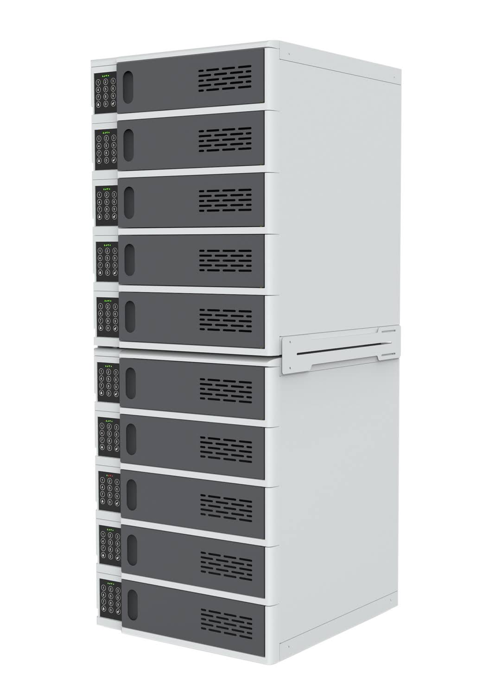 10-Bay Charging Locker for Mobile Devices - Luxor LLTSW10-G