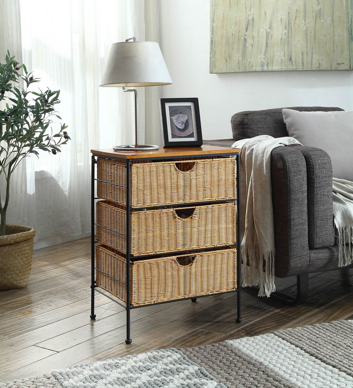 3 Drawer Wicker - 4D Concepts 263069