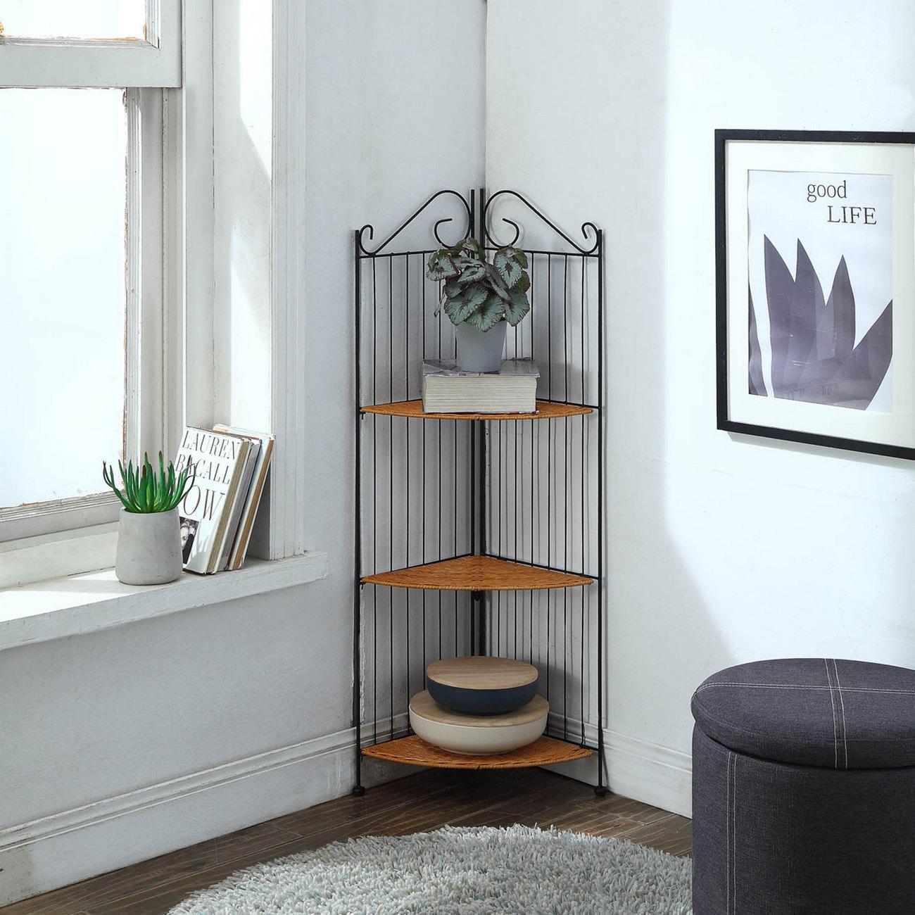3 Tier Corner Bookcase - 4D Concepts 143023