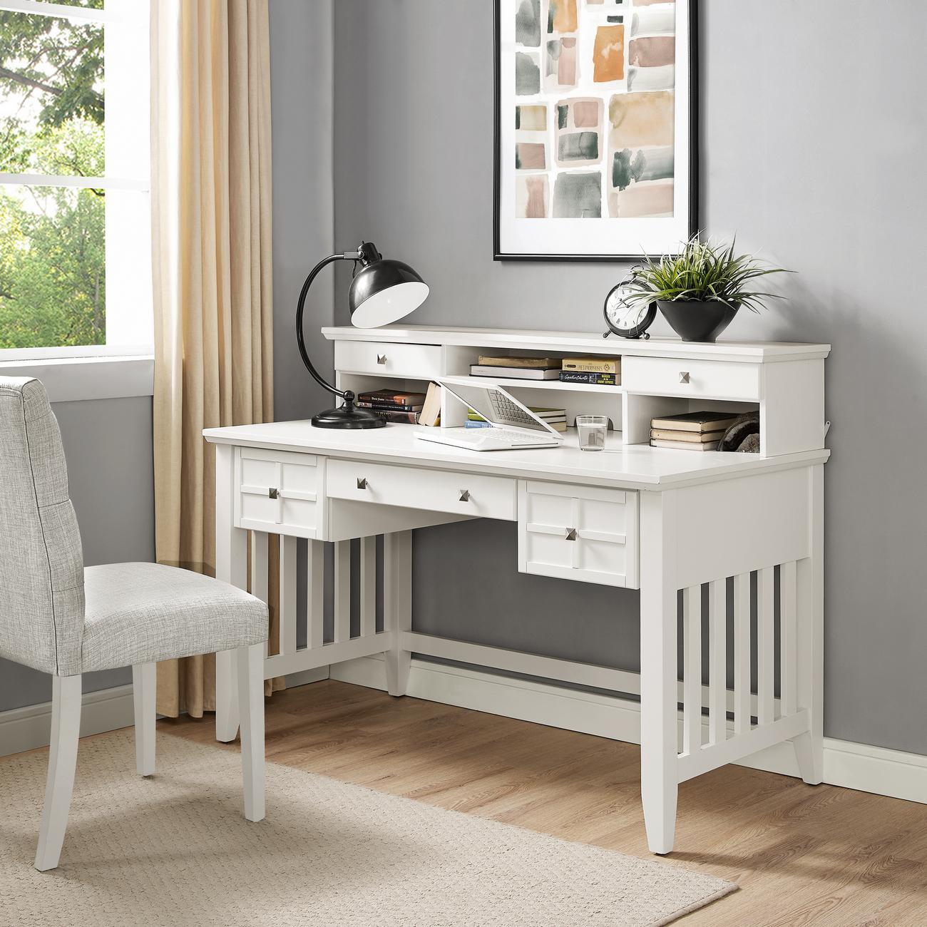 Computer Desk Hutch White