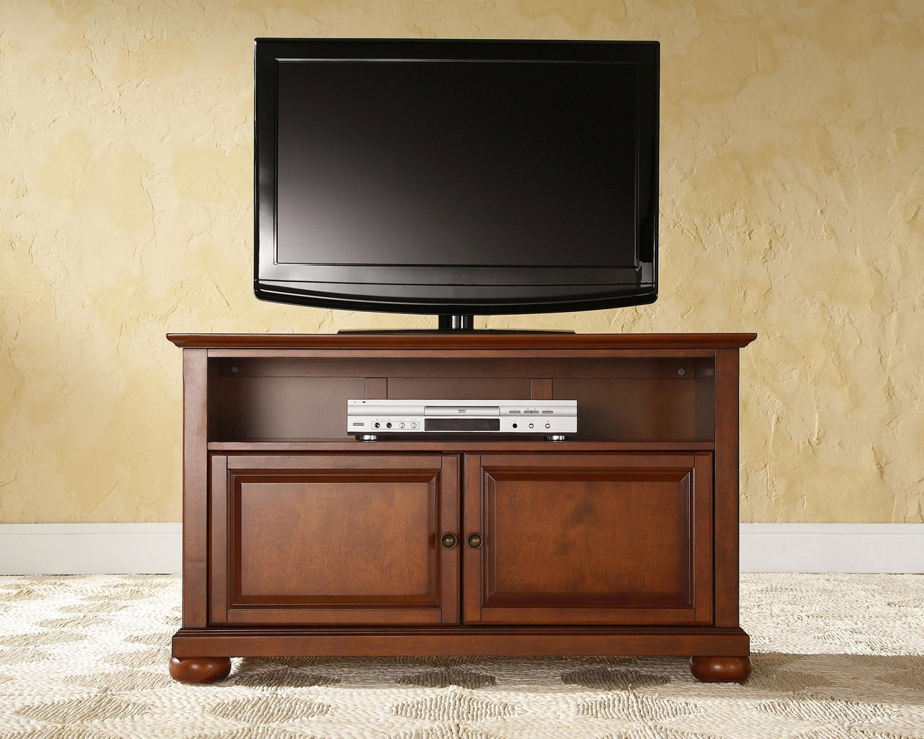 "Alexandria 42"" TV Stand in Classic Cherry Finish - Crosley KF10003ACH"