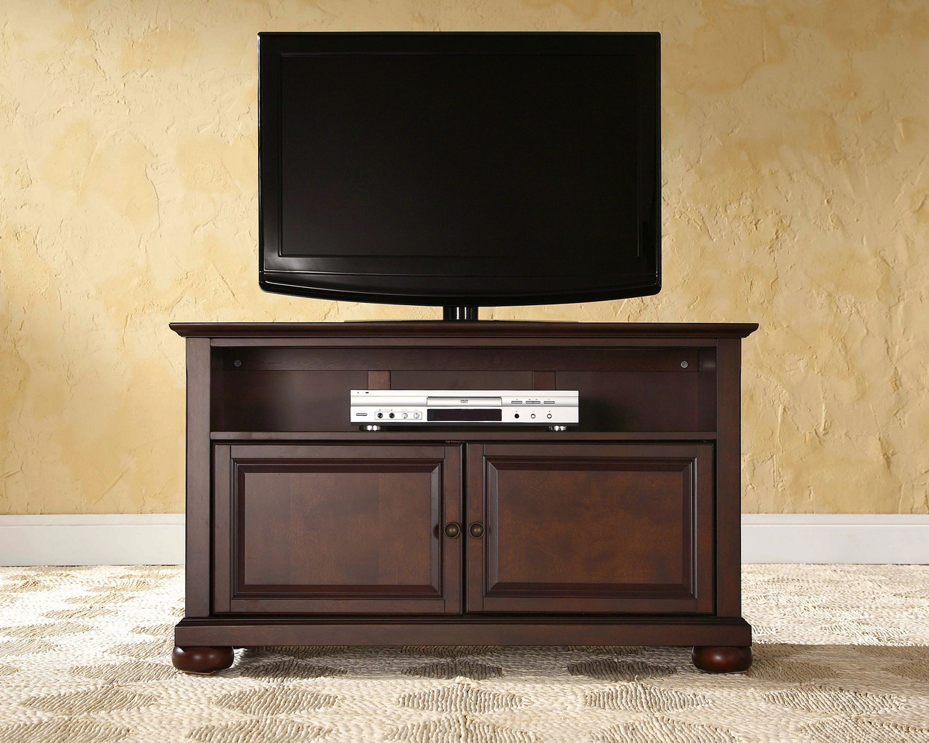 "Alexandria 42"" TV Stand in Vintage Mahogany Finish - Crosley KF10003AMA"