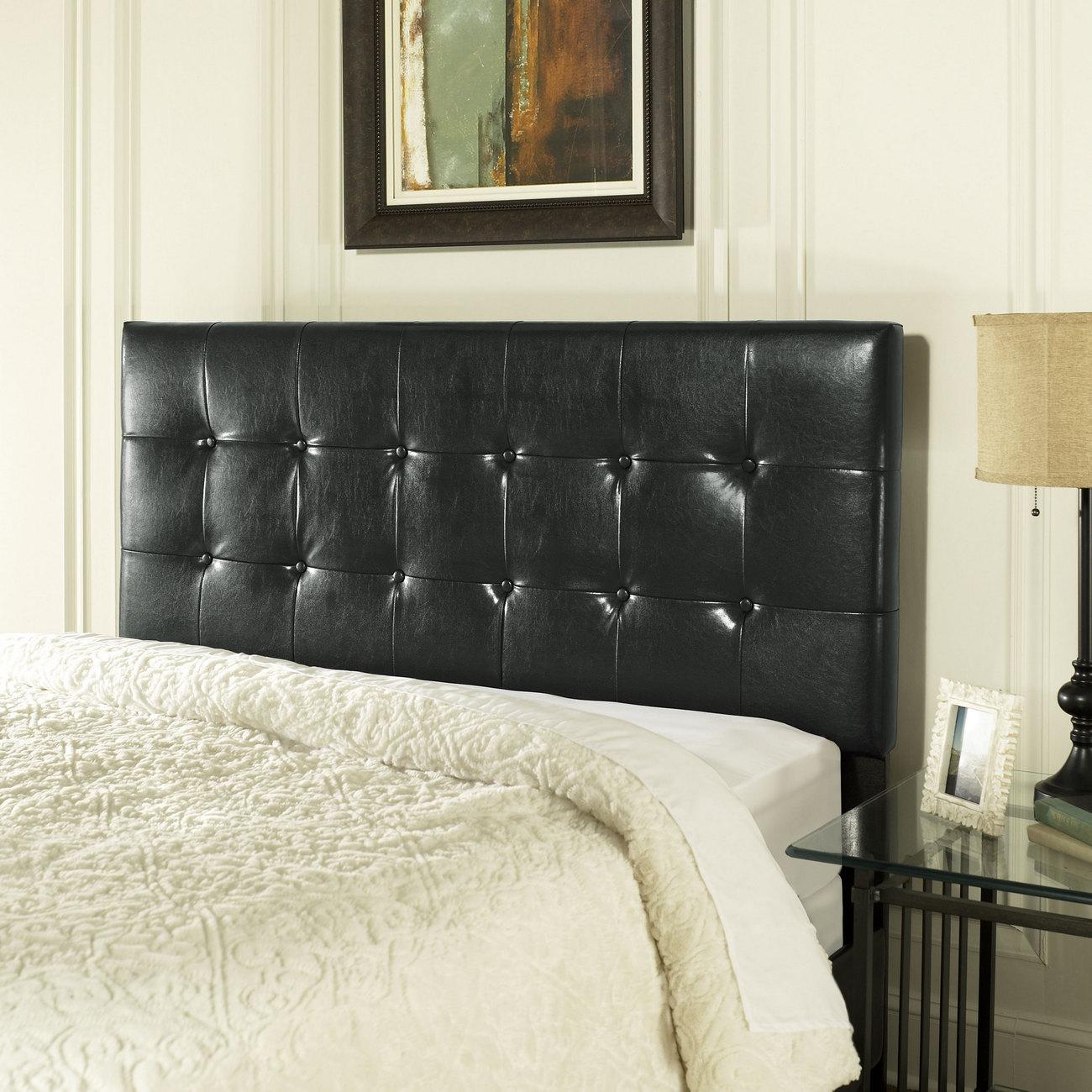 Andover King/Cal King Headboard in Black Leatherette - Crosley CF90001-601BK