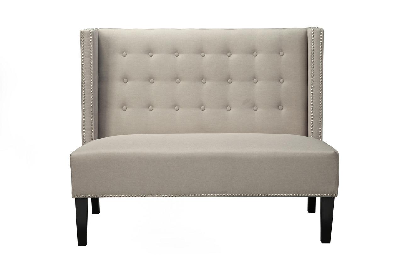 Aristocrat Upholstered Bench w/ Back - Alpine Furniture LW-258
