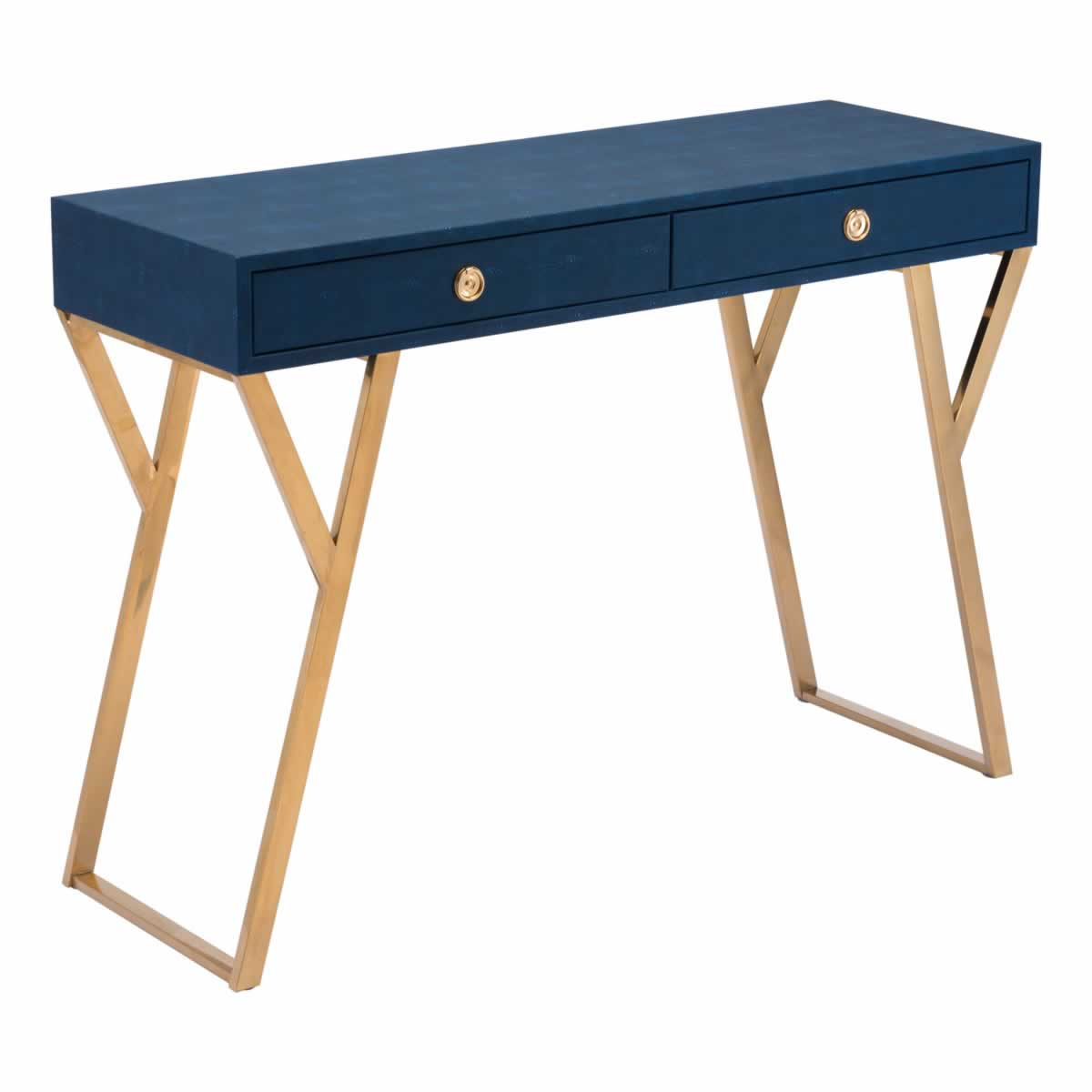 Zuo Asti Console Table Navy Blue