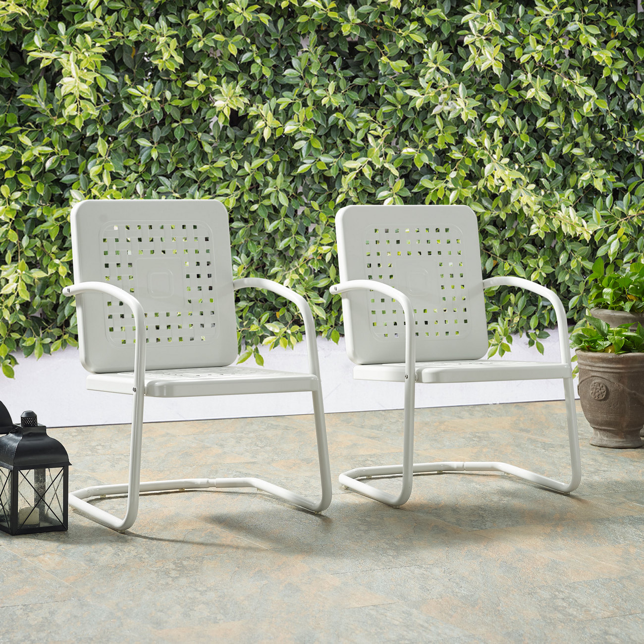 Bates Chair in White (Set of 2) - Crosley CO1025-WH