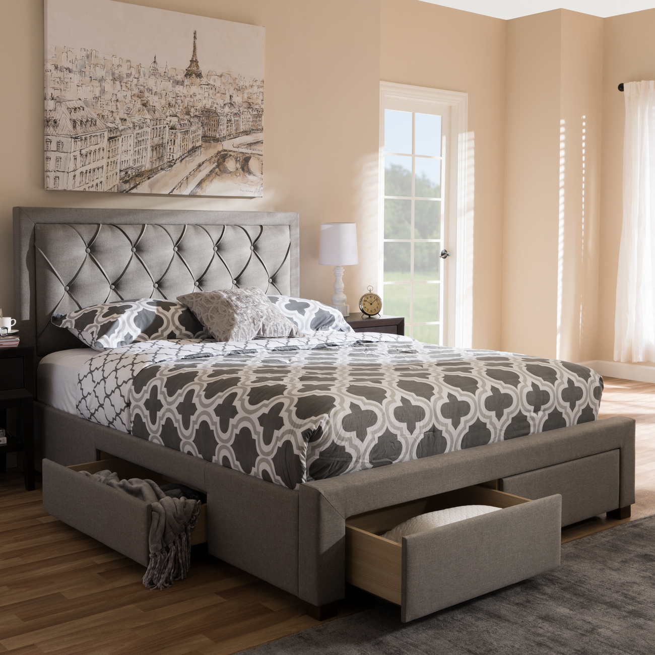 Wholesale Interiors Upholstered Storage Bed King