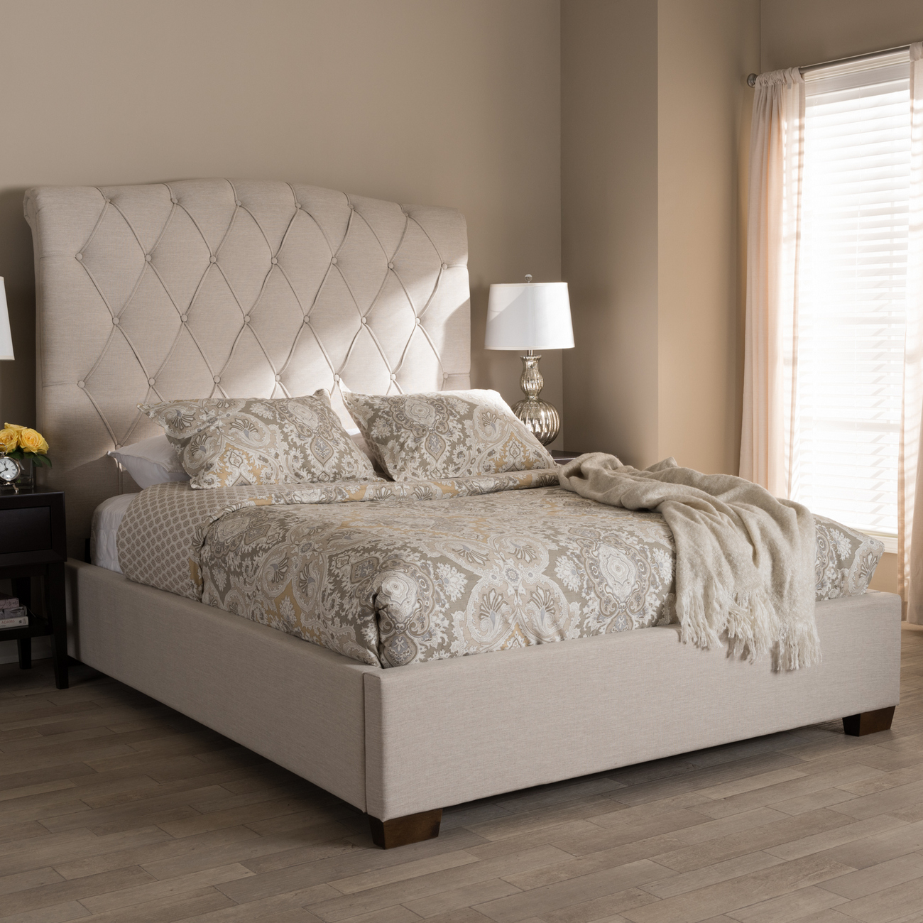 Wholesale Interiors Upholstered Platform Bed Queen