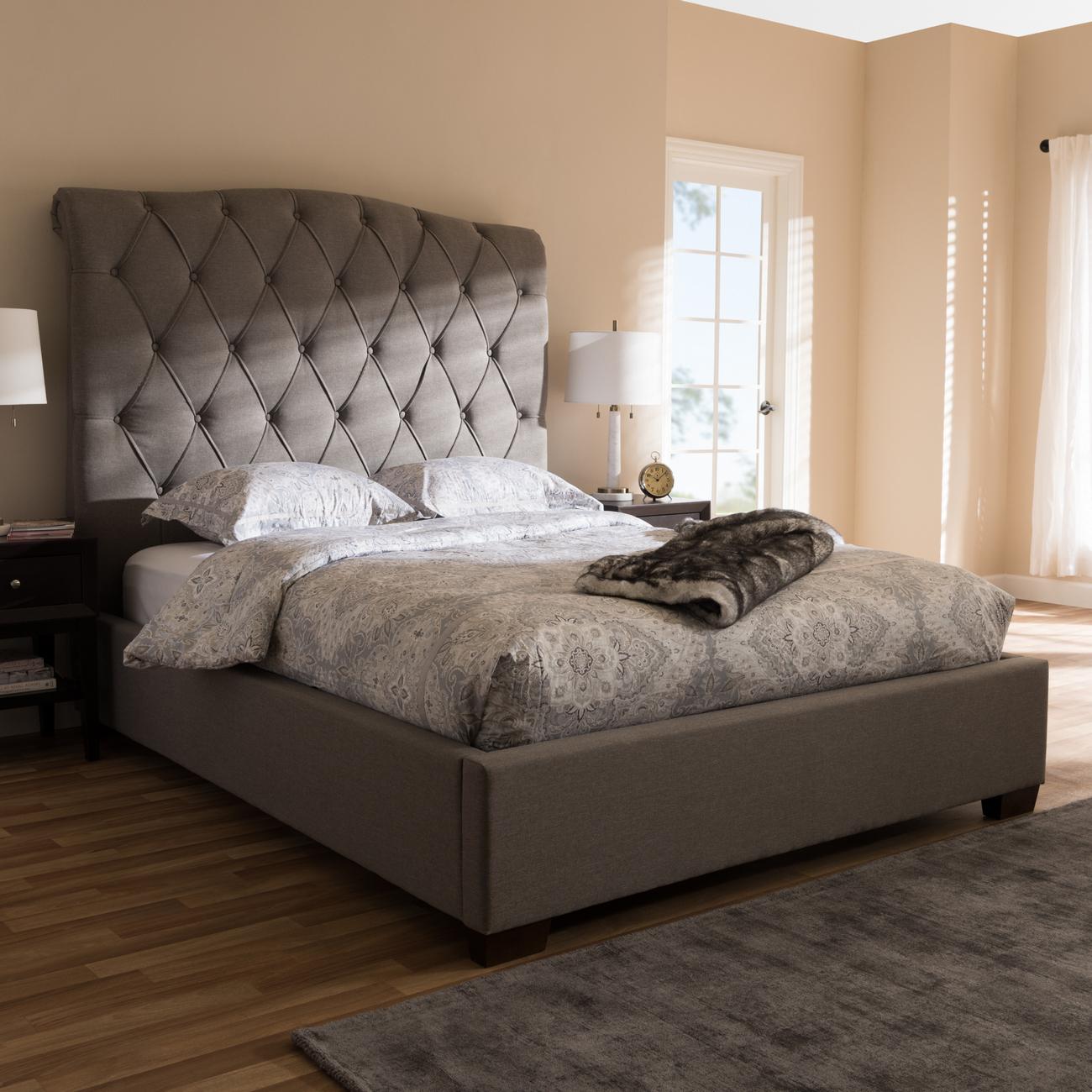 Wholesale Interiors Upholstered Platform Bed King