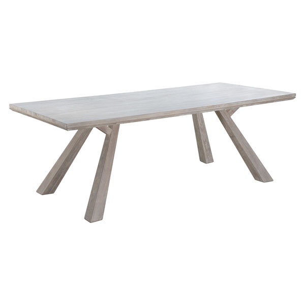 Zuo Rectangular Dining Table Sun Drenched Acacia
