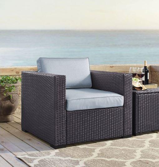 Biscayne Armchair w/ Mist Cushions - Crosley KO70130BR-MI