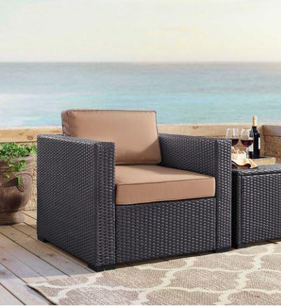 Biscayne Armchair w/ Mocha Cushions - Crosley KO70130BR-MO