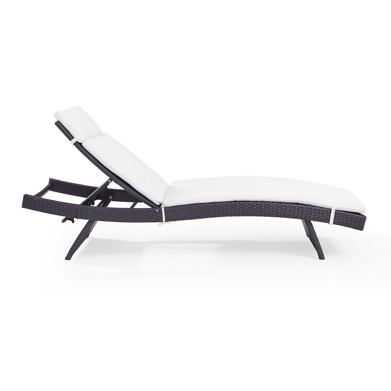 Biscayne Chaise Lounge w/ White Cushion - Crosley CO7144BR-WH