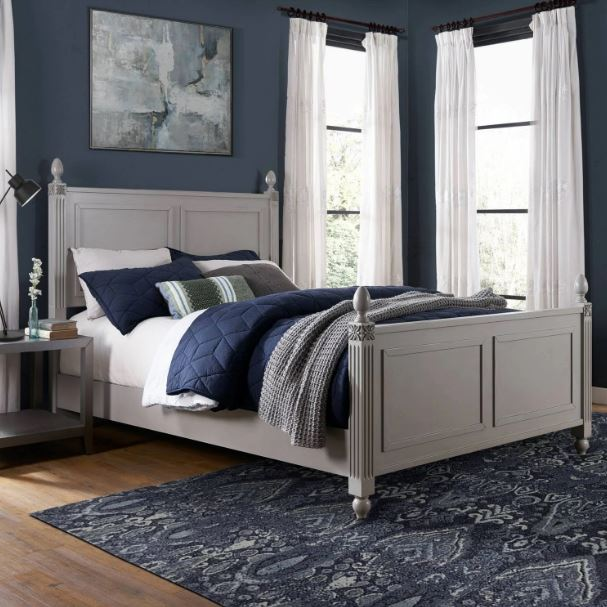 Crosley Brands Bourdeaux King Bedset Gray