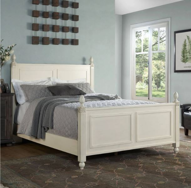 Crosley Brands Bourdeaux Queen Bedset Cream