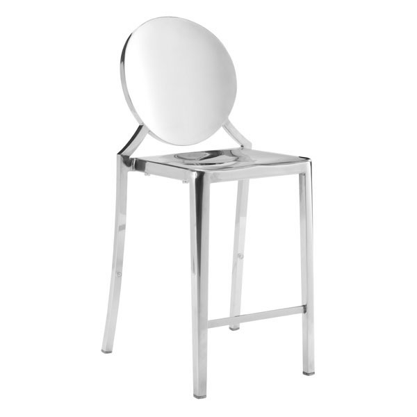 Zuo Eclispe Counter Chair Stainless Steel