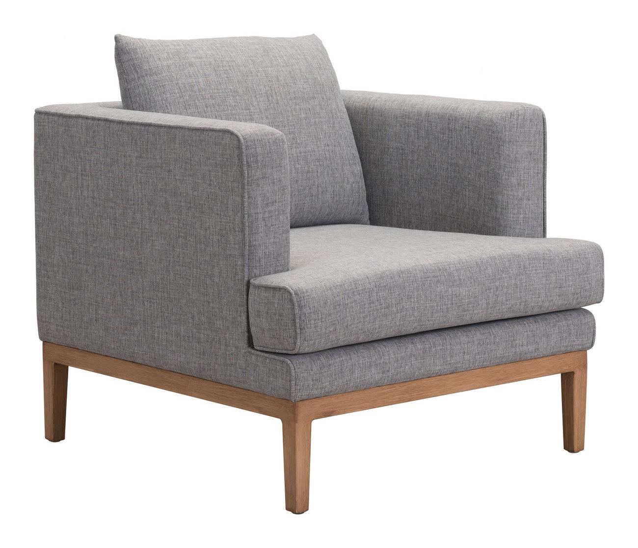 Zuo Eden Arm Chair Gray