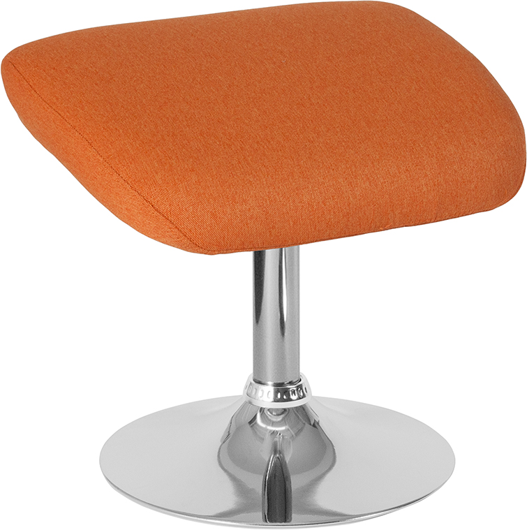 Furniture | Ottoman | Fabric | Orange | Series | Flash