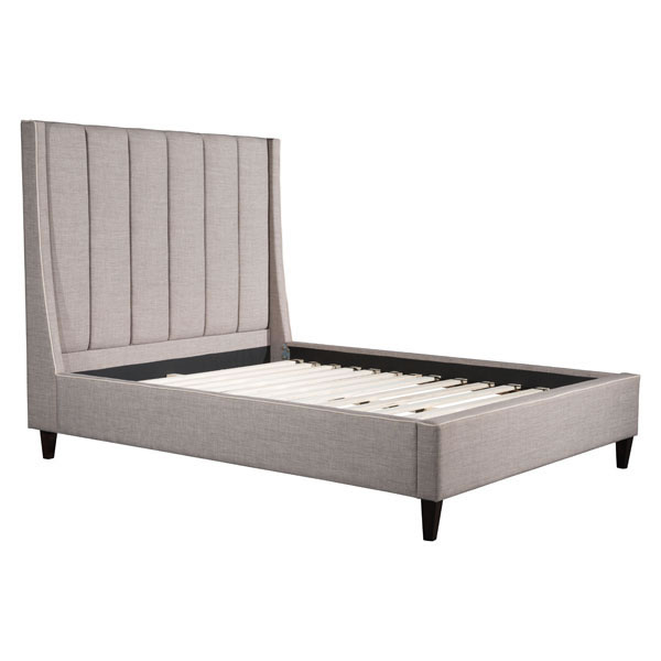 Zuo Gilded Age Queen Bed Dove Gray