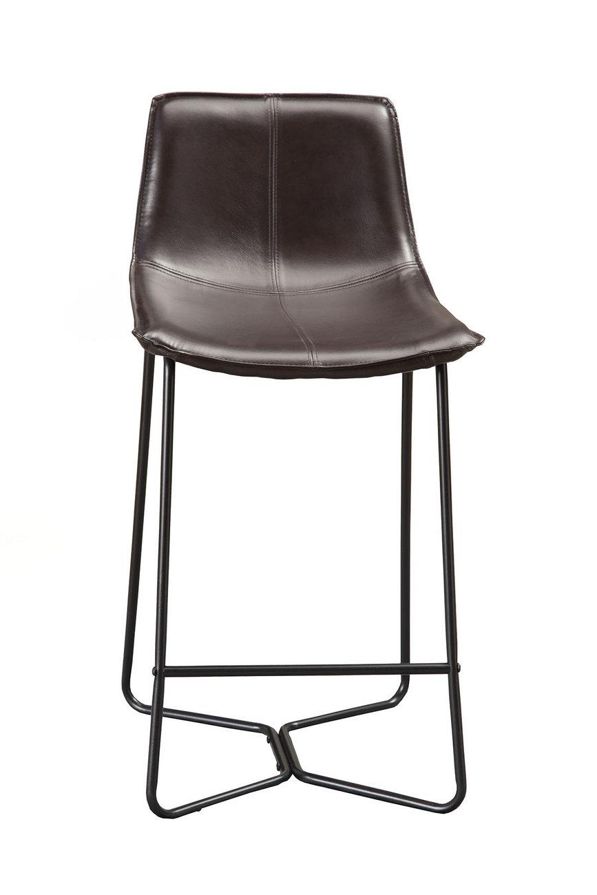 Live Edge Bonded Leather Pub Chairs (Set of 2) - Alpine Furniture 1968-43